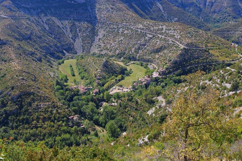 Cirque de Navacelles i södra Frankrike arkivfoton