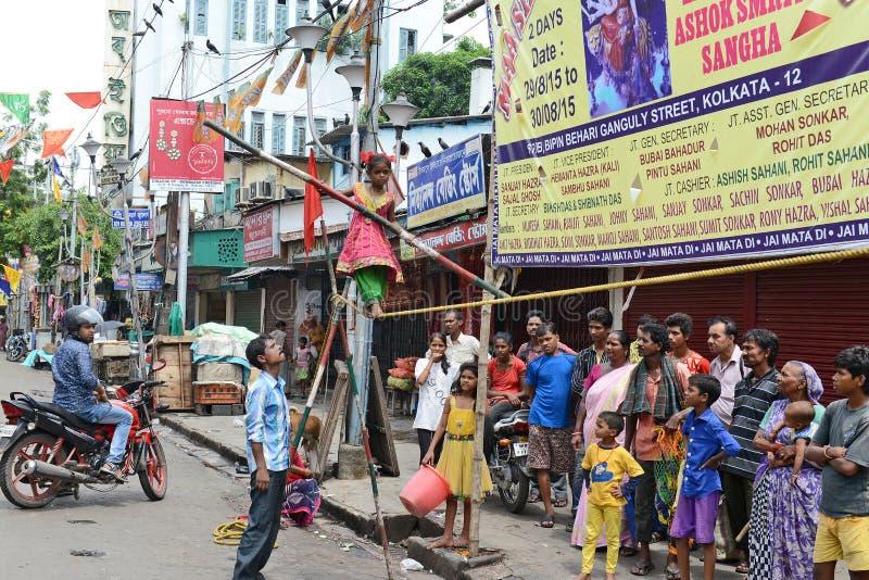 Cirque de rue photos libres de droits