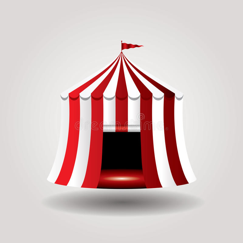 Cirque de tente illustration de vecteur