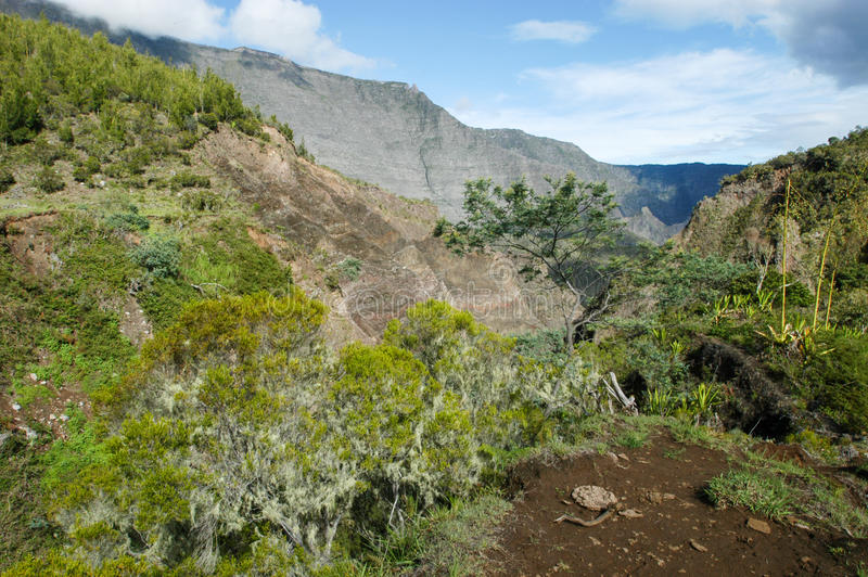 Cirque di Mafate in La Reunion Island fotografia stock libera da diritti