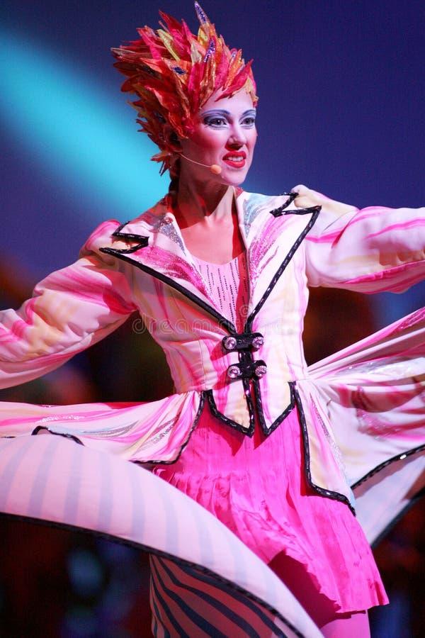Cirque Du Soleil выполняет стоковые фотографии rf