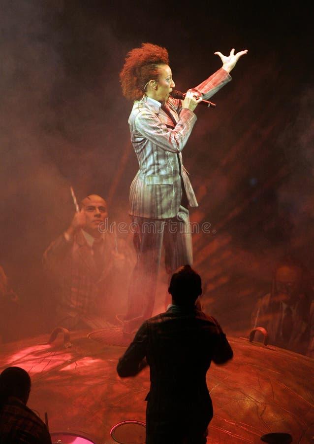 Cirque Du Soleil выполняет стоковое изображение
