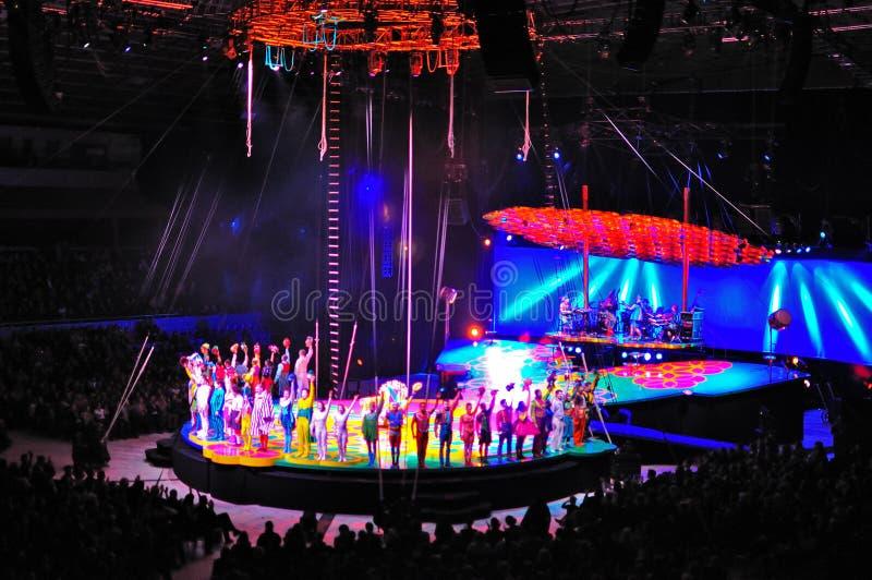 cirque du soleil royaltyfria bilder