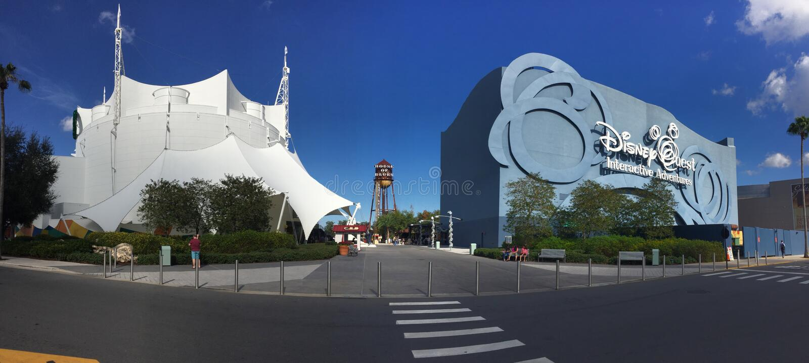 Cirque Du Soleil and Disney Quest. Located in Disney Springs in Orlando, Florida stock photography