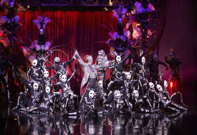 Cirque du Soleil exécute le ` de Kooza de ` images stock