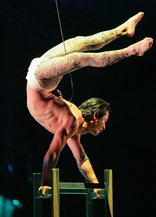 Cirque du Soleil executa o ` de Kooza do ` imagens de stock royalty free
