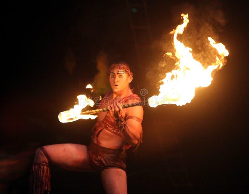 Cirque du Soleil führt ` Alegria-` durch stockfotografie