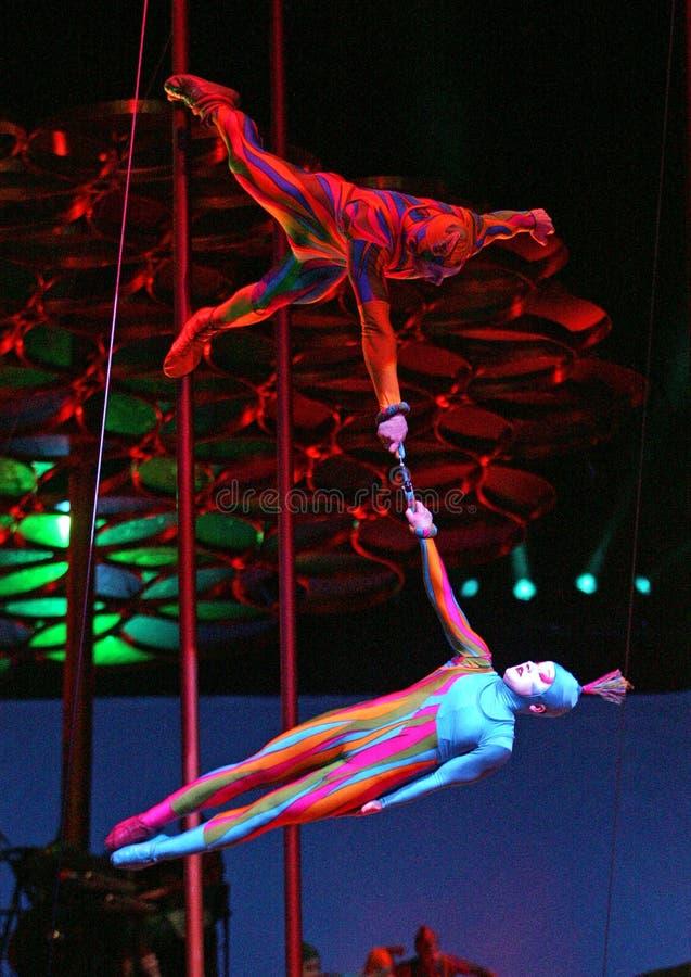 Cirque du Soleil presteert stock afbeelding