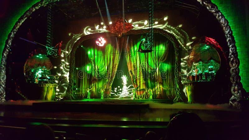 Cirque du Soleil ` s Zarkana royaltyfria bilder