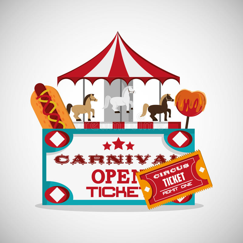 Cirque et conception de carnaval illustration stock