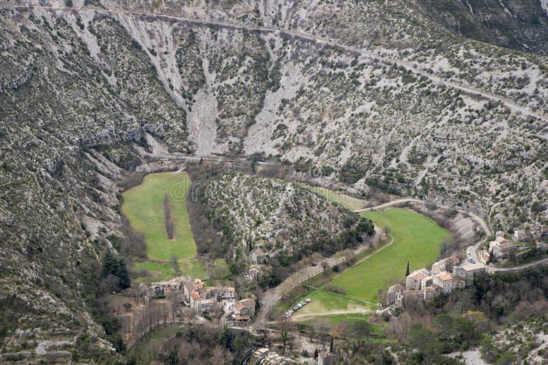 Cirque naturel de Navacelles dans Hérault photographie stock libre de droits