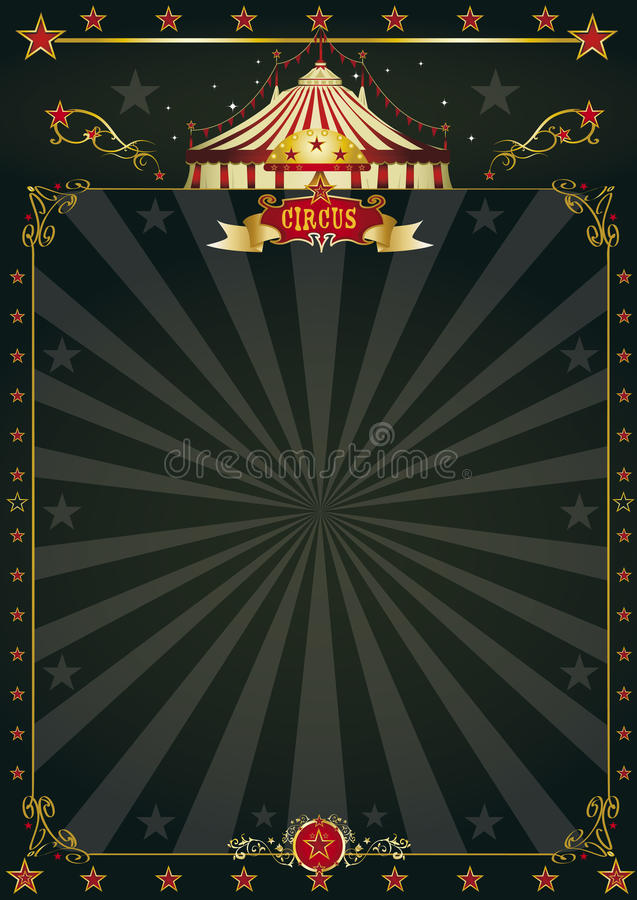 Cirque noir magique illustration libre de droits