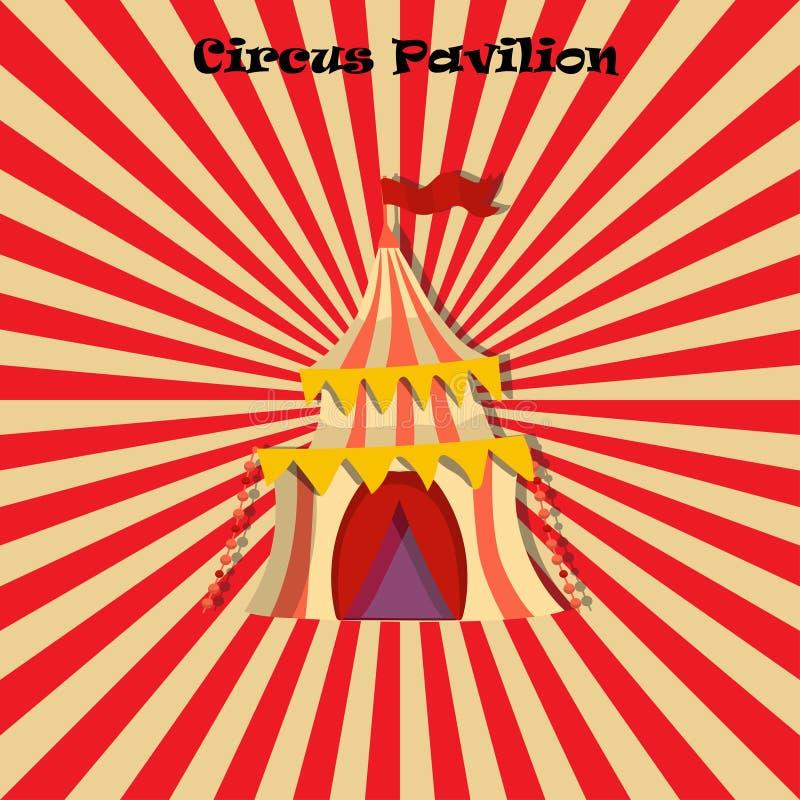 Cirque ou tente ou pavillon carnaval illustration stock