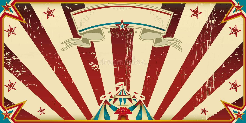 Cirque sale d'invitation illustration libre de droits