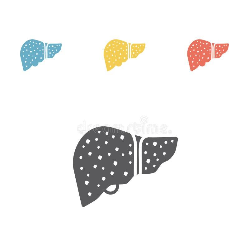 Cirrhosis vector flat icon illustration. Cirrhosis flat icon. Vector signs for web graphics vector illustration