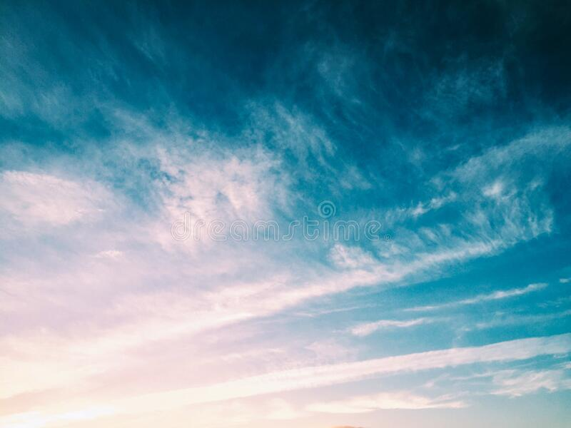 Cirrus Clouds On Blue Sky Background Free Public Domain Cc Image