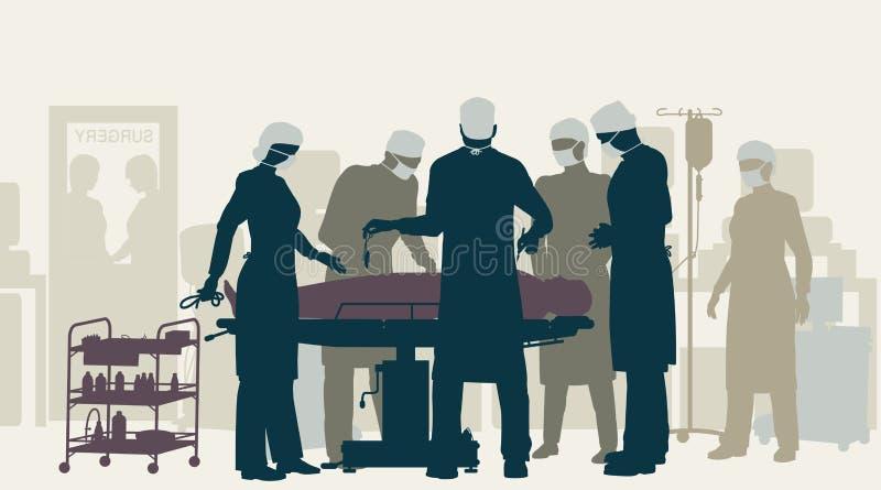 Cirugía stock de ilustración