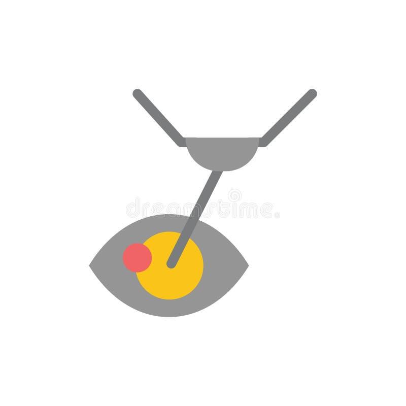 Cirugía del ojo, tratamiento del ojo, cirugía del laser, icono plano del color de Lasik Plantilla de la bandera del icono del vec stock de ilustración