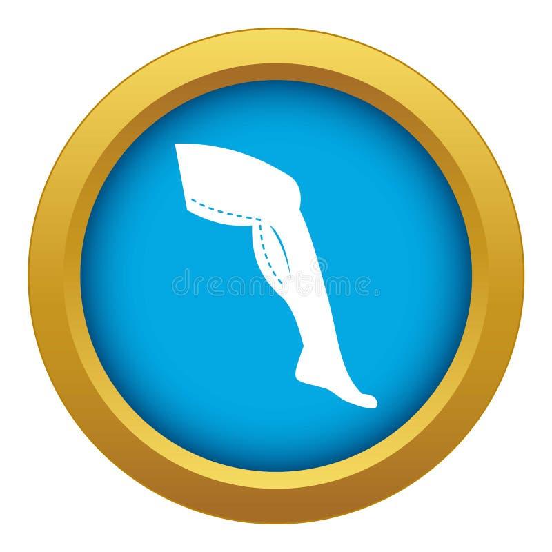 Cirugía plástica del vector azul del icono de las piernas aislado ilustración del vector