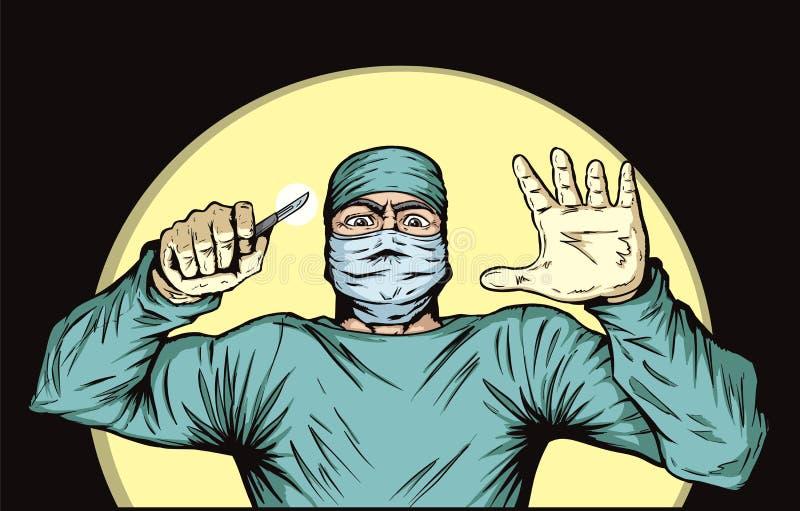 Cirujano stock de ilustración