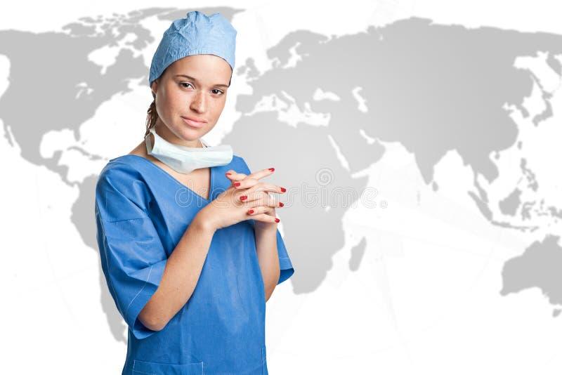 Cirujano de sexo femenino imagen de archivo