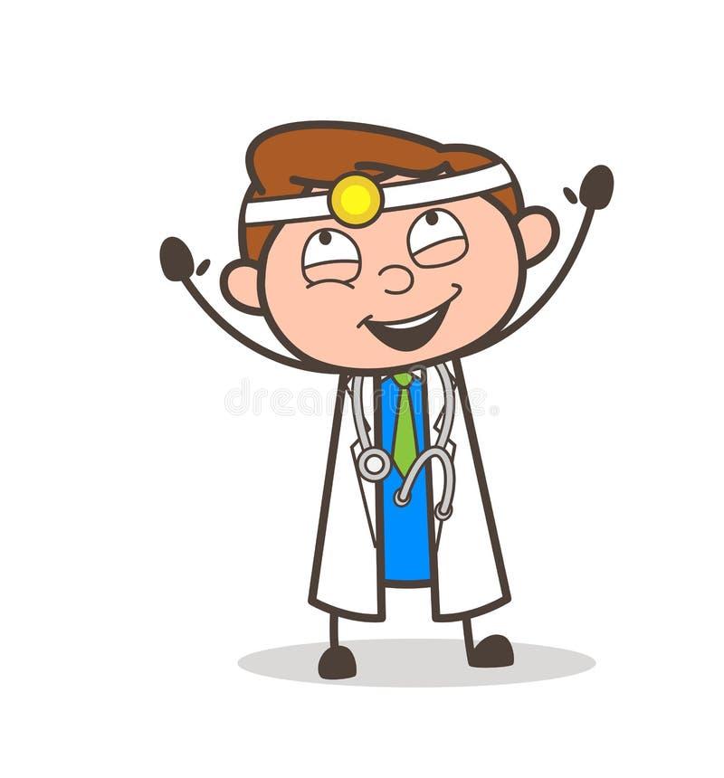 Cirujano Laughing Expression Vector de la historieta ilustración del vector