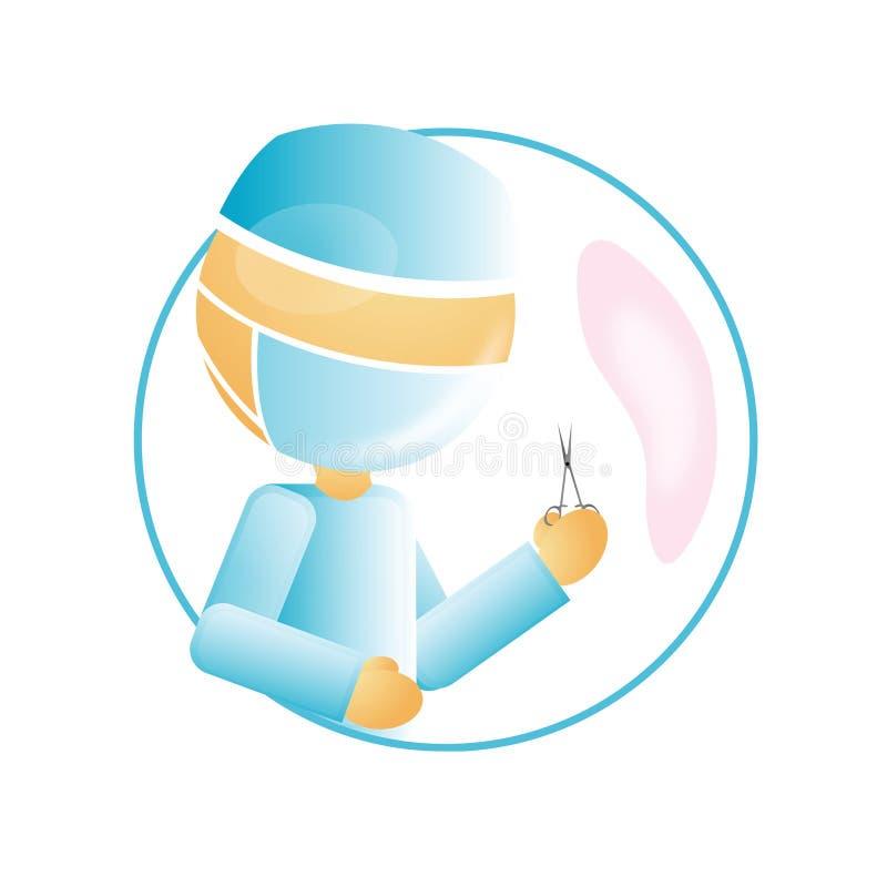 Cirurgião ilustração stock