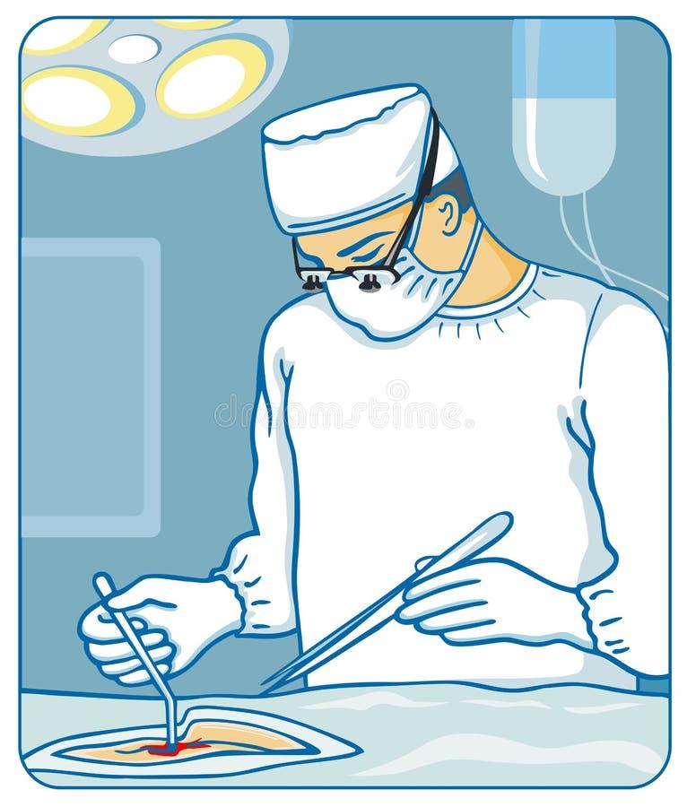 Cirurgião ilustração royalty free