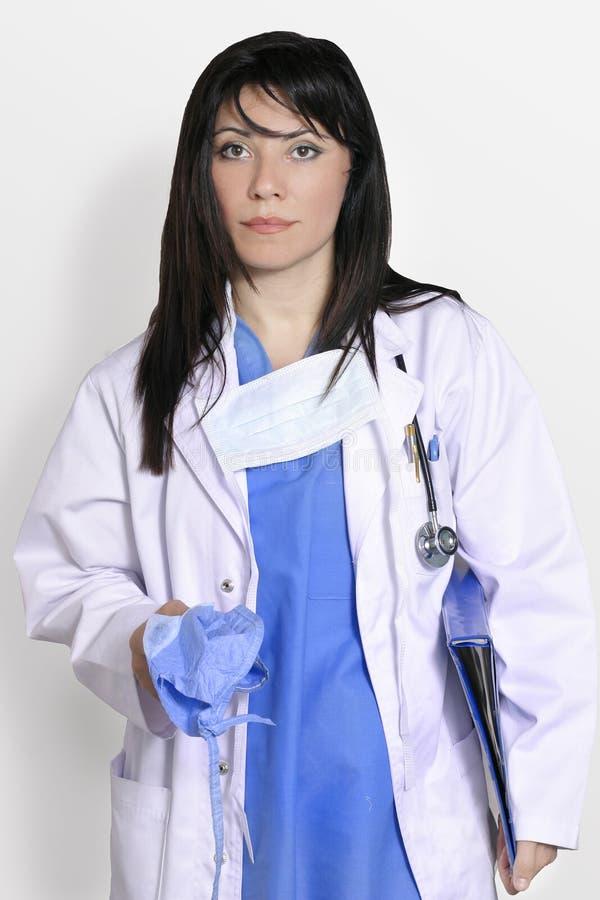 Cirurgião no azul fotos de stock