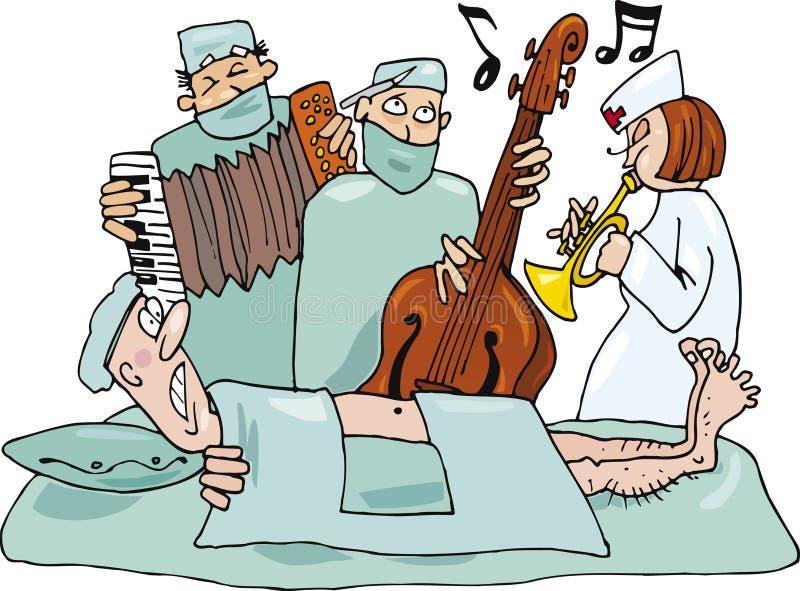 Cirurgiões loucos ilustração stock