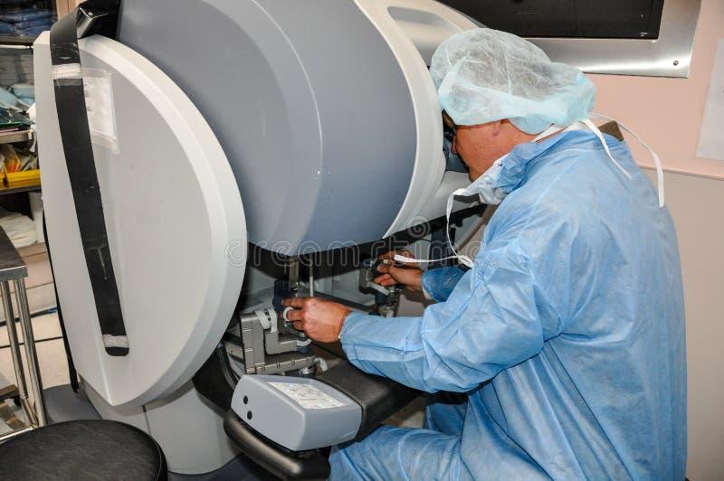 Cirurgia ajudada robótico foto de stock