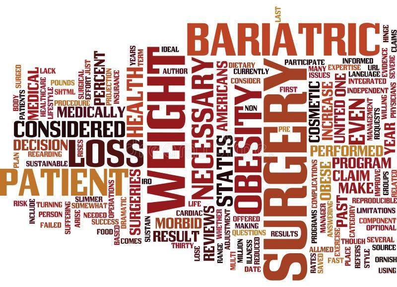 Cirurgia de Bariatric para o conceito da nuvem da palavra da obesidade ilustração do vetor