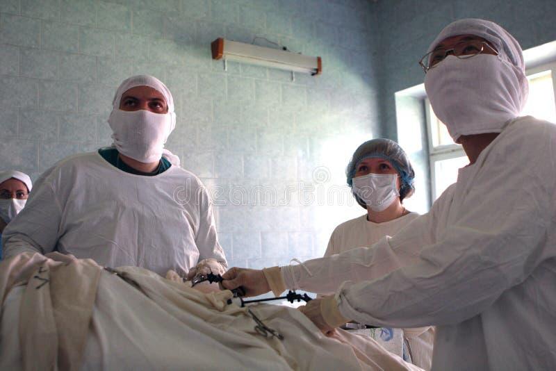Cirurgia de Laparoscopic imagens de stock royalty free