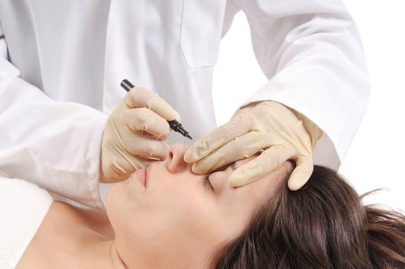 Cirurgia estética imagens de stock