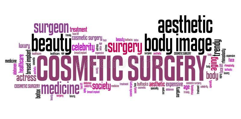 Cirurgia estética ilustração royalty free