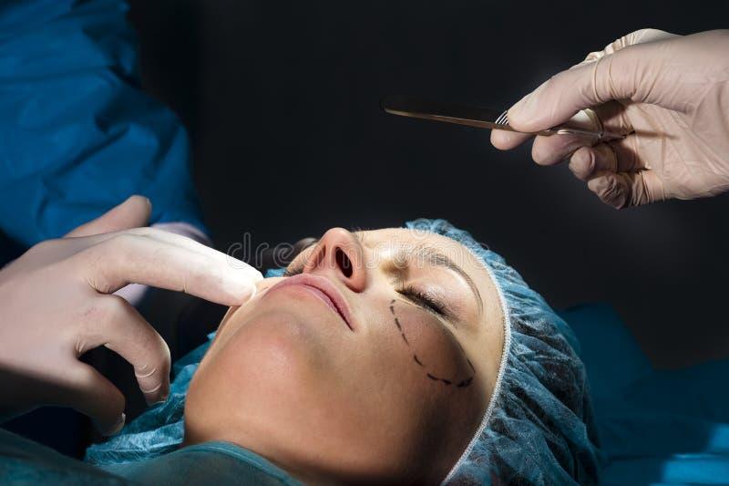 Cirurgia plástica imagem de stock royalty free