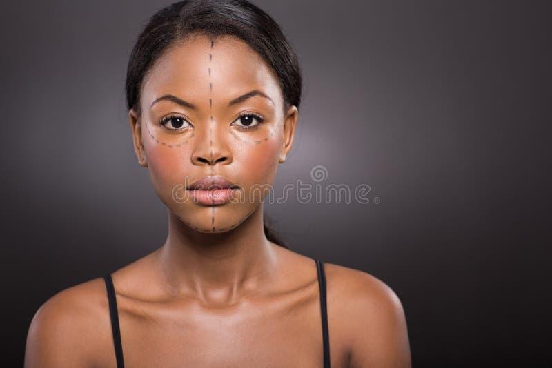 Cirurgia plástica da mulher imagens de stock royalty free