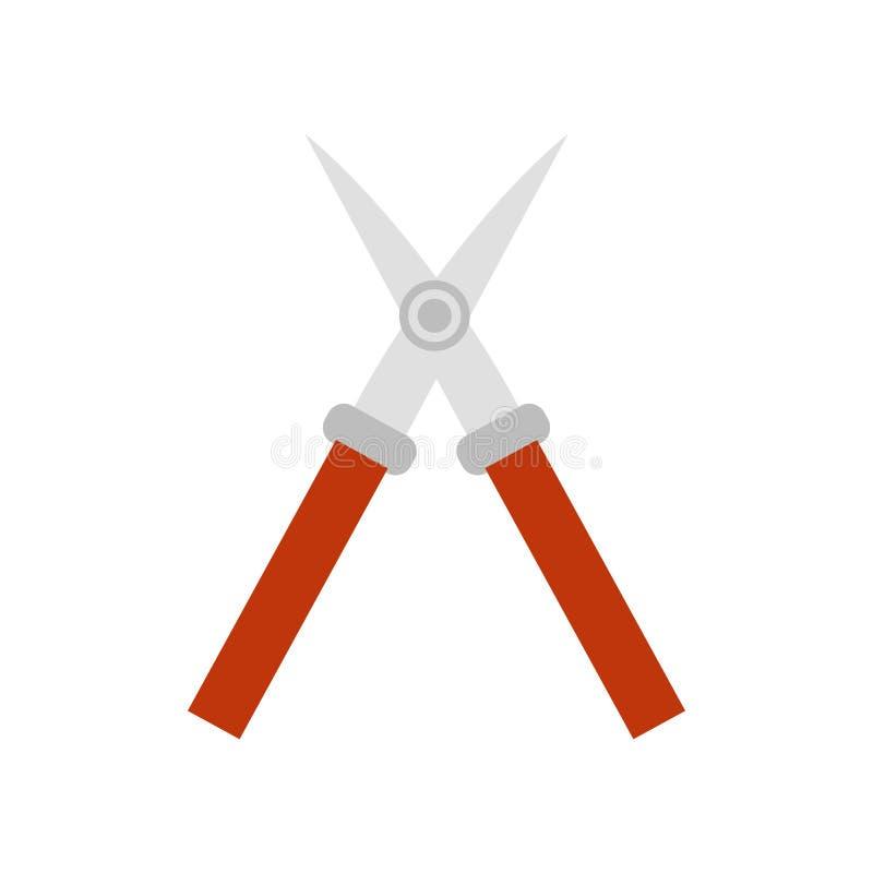 Cisaille le signe et le symbole de vecteur d'icône d'isolement sur le fond blanc, concept de logo de cisailles illustration stock