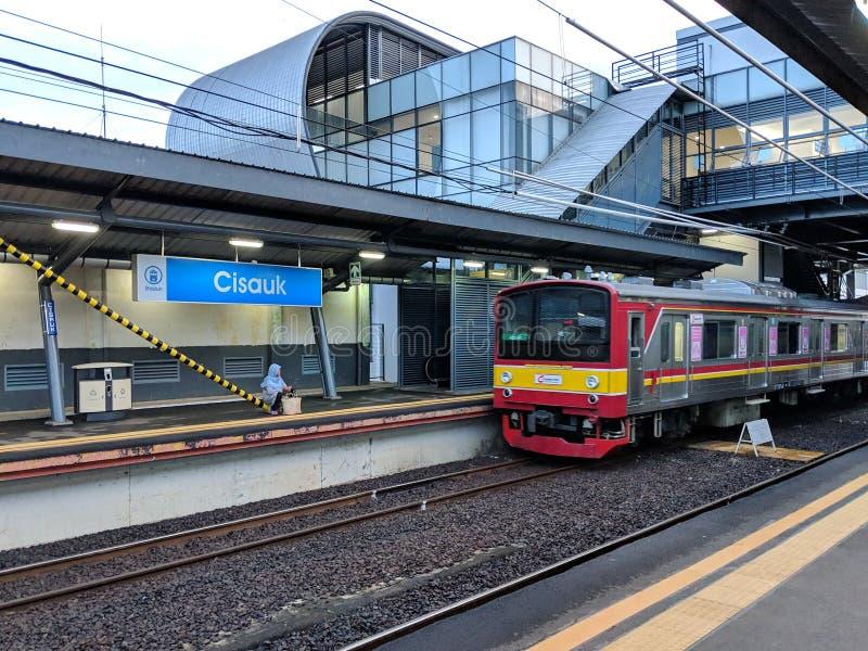 Cisauk station i Serpong arkivbilder