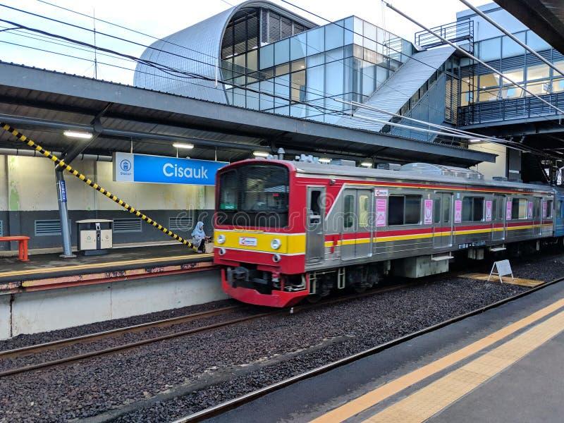 Cisauk station i Serpong arkivbild