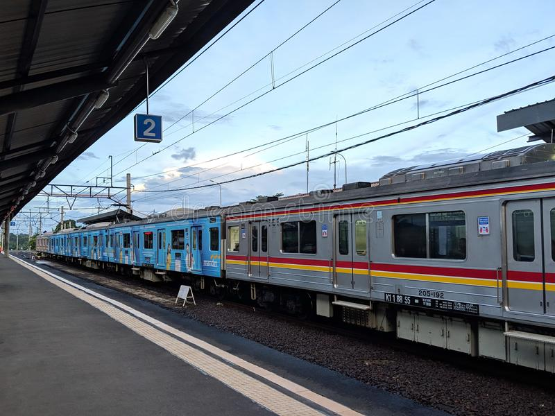 Cisauk station i Serpong royaltyfria bilder