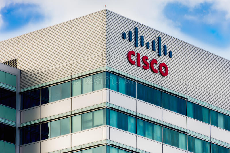 Cisco lätthet i Silicon Valley fotografering för bildbyråer