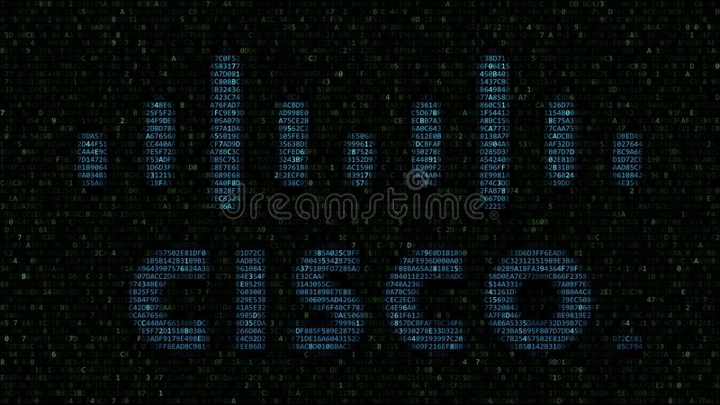 Cisco Systems logo made of hexadecimal symbols on computer screen. Editorial 3D rendering. Cisco Systems logo made of hexadecimal symbols on computer screen royalty free illustration