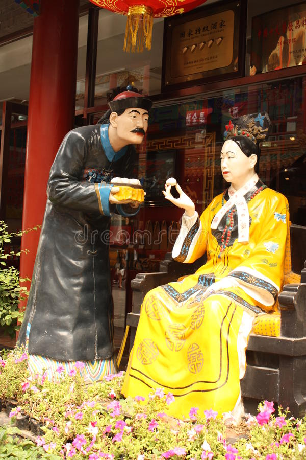 Download Cisi Woman Emperor Of China And Her Servant Editorial Stock Photo - Image of fawner, famous: 15648783