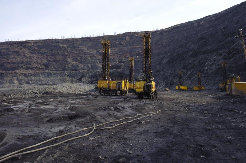 ciska ekstrakci żelaza kopalni otwartą kruszec zdjęcie stock