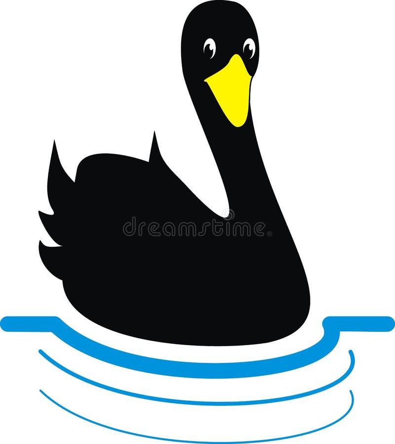 Cisne preta ilustração royalty free