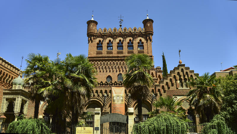 Cisneriano muzeum Alcalà ¡ De Henares, Hiszpania zdjęcie stock