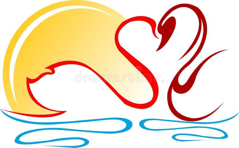 Cisnes ilustración del vector
