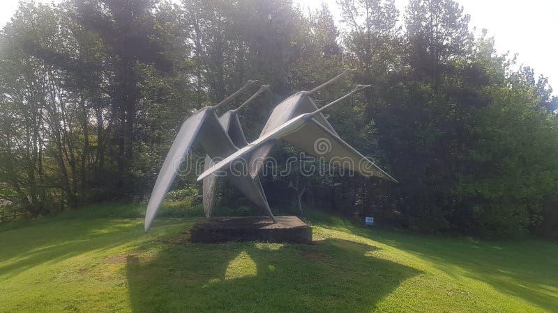 Cisnes do metal fotografia de stock royalty free