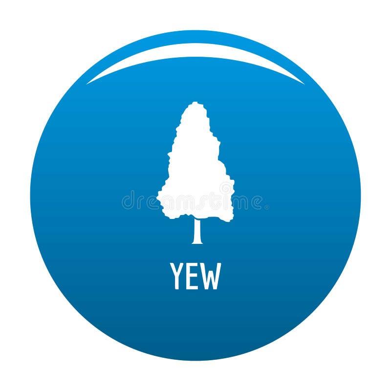 Cisowy drzewny ikony błękita wektor royalty ilustracja